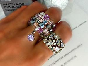 Out 546  кольцо с кулоном. Ярмарка Мастеров - ручная работа, handmade.