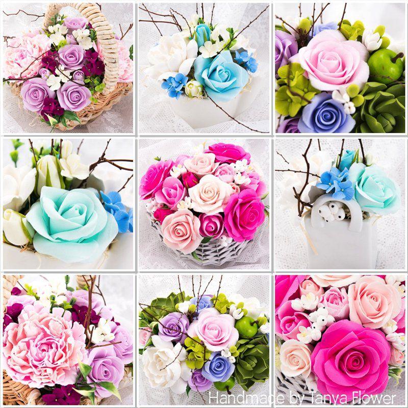 подарок женщине, открытки ручной работы, открытки на 8 марта, цветы к 8 марта, букеты к 8 марта, таня фловер, tanya flower, букеты для женщин, decoclay, открытки к 8 марта
