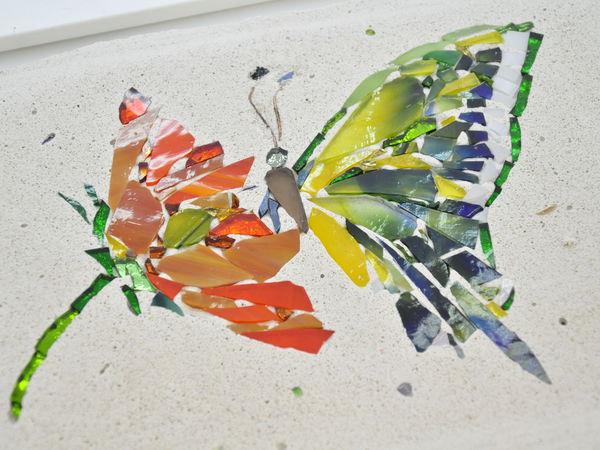 Мозаика из витражного стекла «Насекомые»   Ярмарка Мастеров - ручная работа, handmade