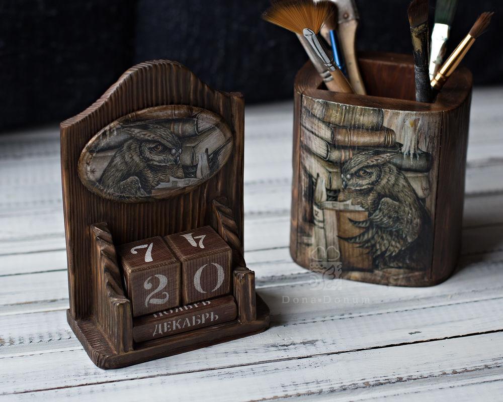 сова, дерево, handmade
