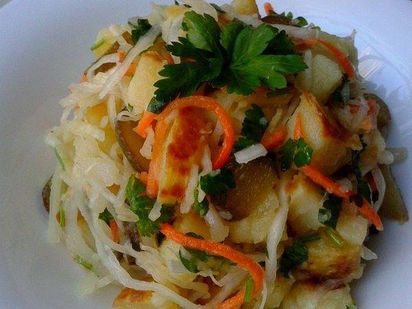 Постный салат с печеной картошкой | Ярмарка Мастеров - ручная работа, handmade