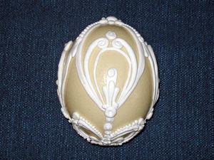 «Зимняя сказка». Декорирование скорлупы страусиного яйца. Ярмарка Мастеров - ручная работа, handmade.