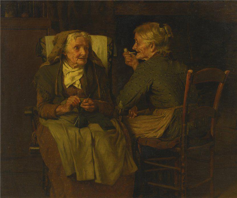 Когда есть чем заняться — стареть некогда: душевные картины о бабушках-рукодельницах, фото № 60