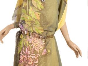 Заказать Платье из купона Киайские хризантемы | Ярмарка Мастеров - ручная работа, handmade