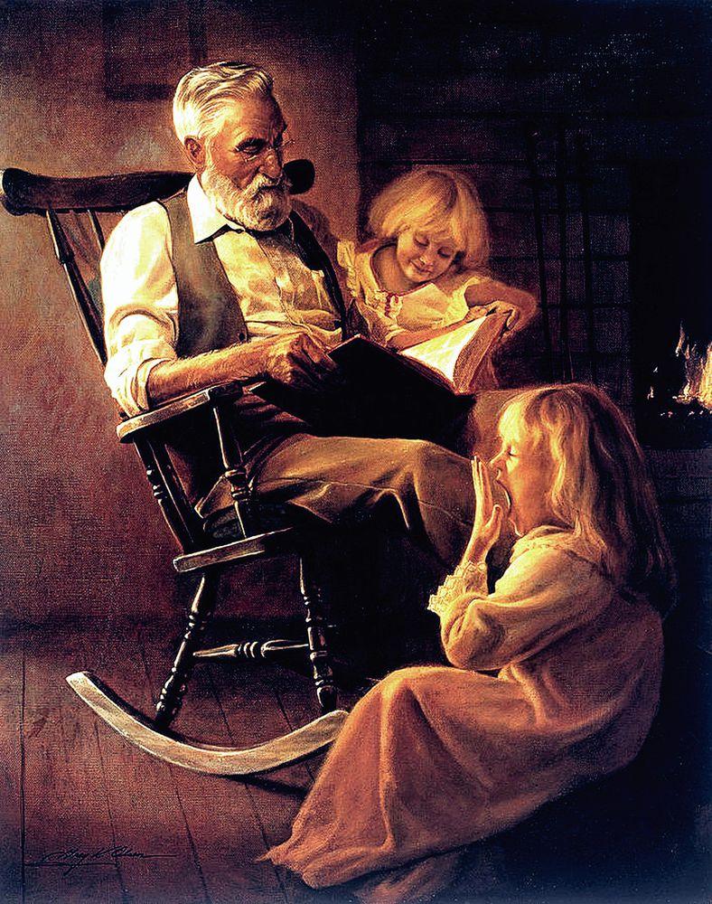 дети с бабушкой