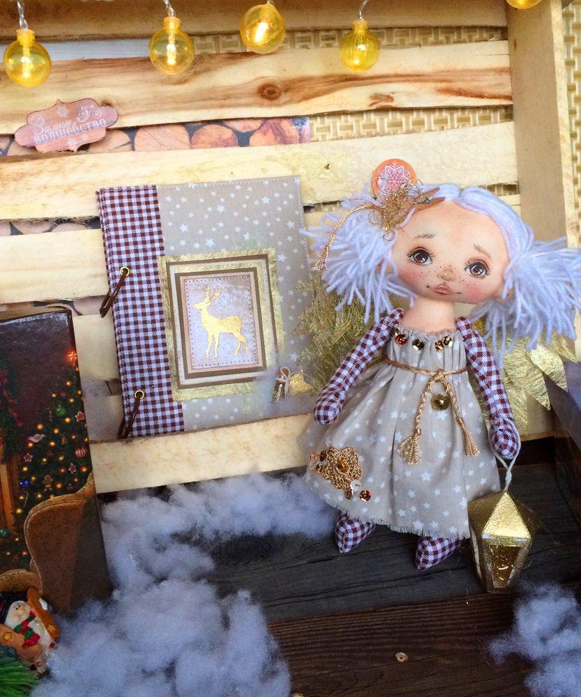 блокнот ручной работы, ангел новогодний