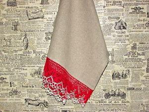 Полотенце льняное. Ярмарка Мастеров - ручная работа, handmade.
