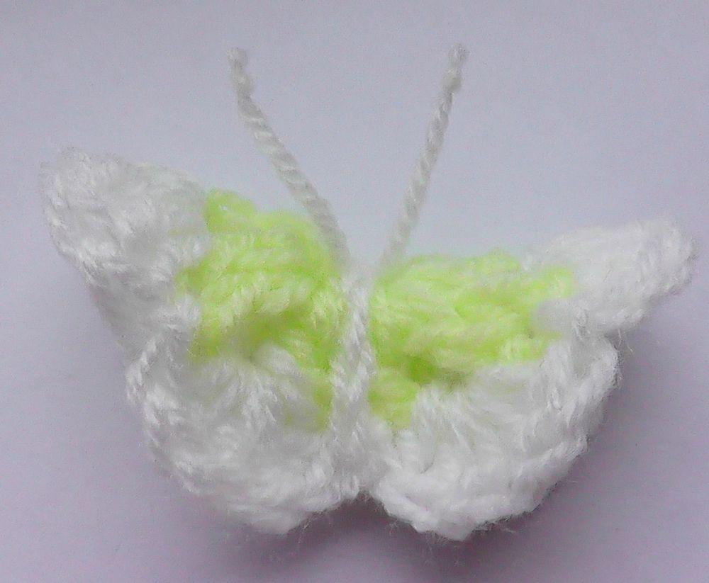 вязанная бабочка, ручная работа