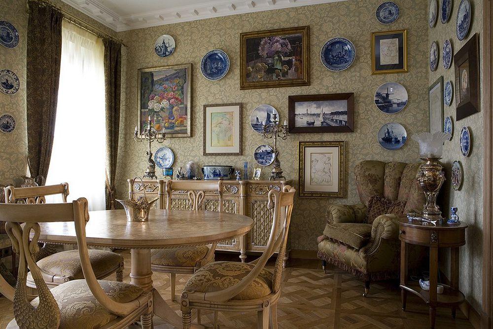 дизайн интерьера, декоративное панно, декор интерьера, фарфоровая посуда