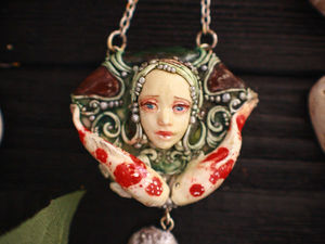 Любовная тайна. Кулон из полимерной глины   Ярмарка Мастеров - ручная работа, handmade