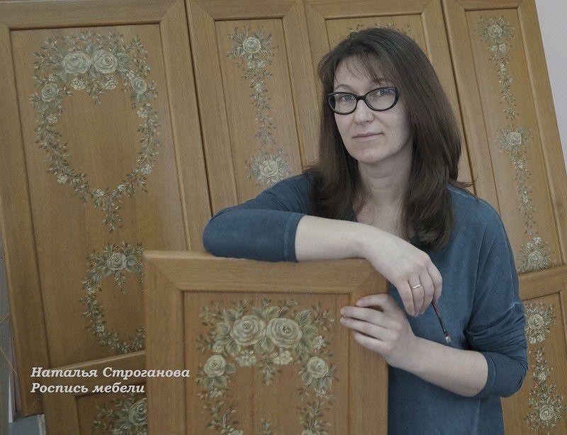 роспись мебели, курс росписи мебели