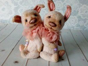 Пасхальные кролики.. Ярмарка Мастеров - ручная работа, handmade.