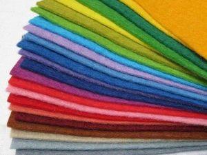 Такой разный фетр. Как выбрать подходящий материал в зависимости от назначения изделия. Ярмарка Мастеров - ручная работа, handmade.
