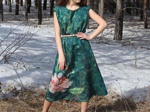 Новое валяное платье