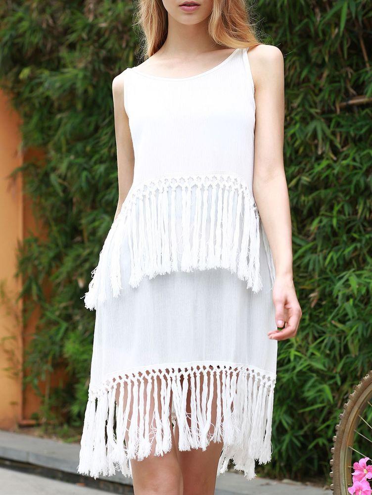 Белое бохо, или Шикарная одежда для королевы летнего пляжа, фото № 39