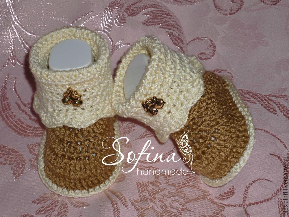 мк, пинетки, пинетки ботиночки, для новорождённых