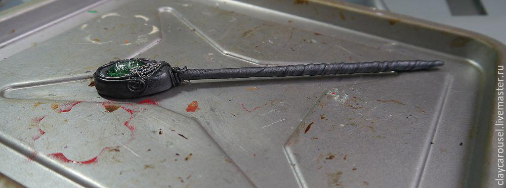 Шпильки из полимерной глины мастер класс поделка #12