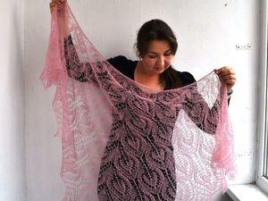 Второй аукцион -нежно розовая шаль!. Ярмарка Мастеров - ручная работа, handmade.