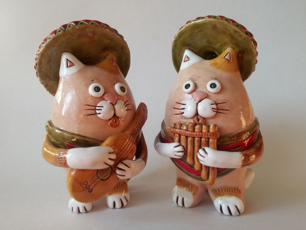 кот керамика, гитара