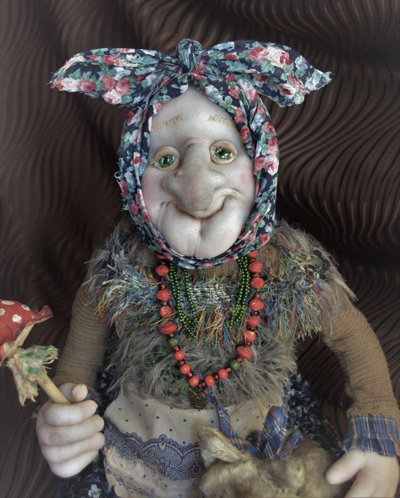 баба яга, кукла текстильная
