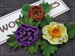 Валяем Фантазийный цветок | Ярмарка Мастеров - ручная работа, handmade