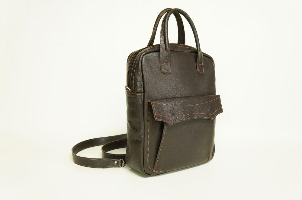 мужская кожаная сумка, деловая кожаная сумка, сумка рюкзак кожаная
