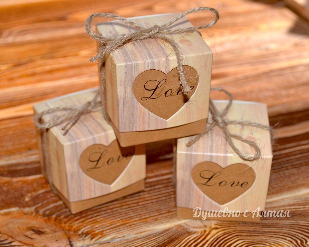 свадебные бонбоньерки, бонбоньерка в коробочке