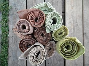 Dyeing Handwoven Fabrics with Natural Herb Dyes. Livemaster - handmade