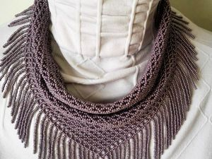 How to Make a Fringe for a Beaded Handkerchief Necklace. Livemaster - handmade
