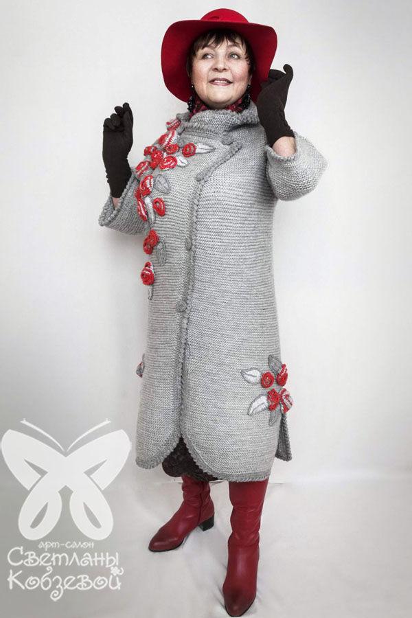 пальто женское, ручная работа, теплая одежда