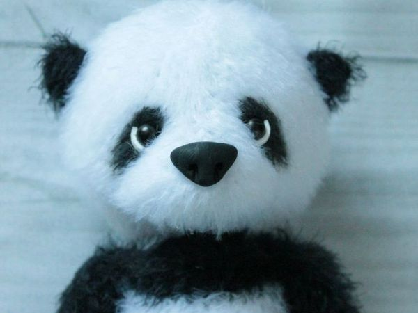 Вяжем крючком милого медвежонка-панду | Ярмарка Мастеров - ручная работа, handmade