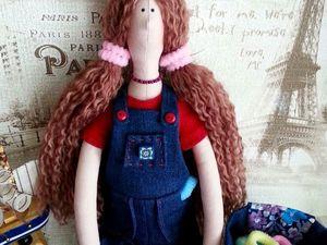 Видео - Тильда держатель резинок для волос. Ярмарка Мастеров - ручная работа, handmade.