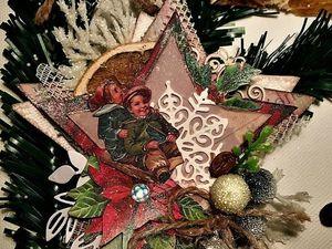 Создаем елочное украшение в винтажном стиле. Рождественская звезда. Ярмарка Мастеров - ручная работа, handmade.