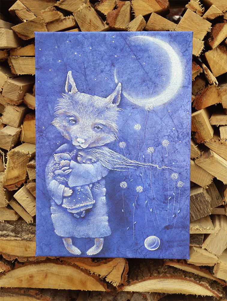 серенький волчок, картина в детскую, добрый волчок, волчок