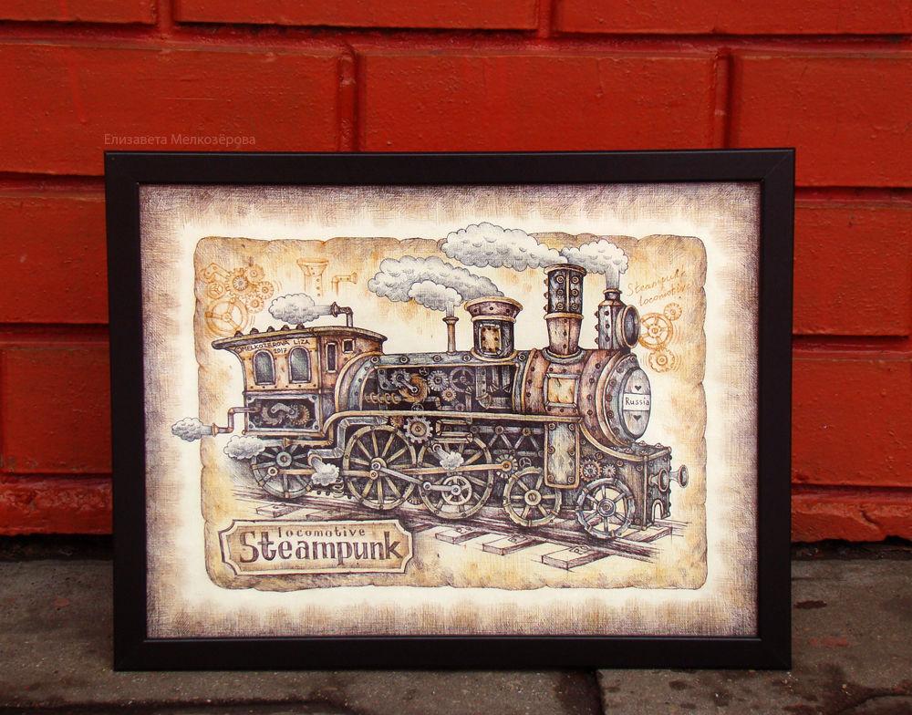 паровоз ретро поезд, мужской брутальный, локомотив рельсы колеса, мальчику сыну мужу