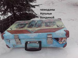 Новая жизнь старого чемодана : Welcome to America!!! или Россия в чемодане!!!. Ярмарка Мастеров - ручная работа, handmade.