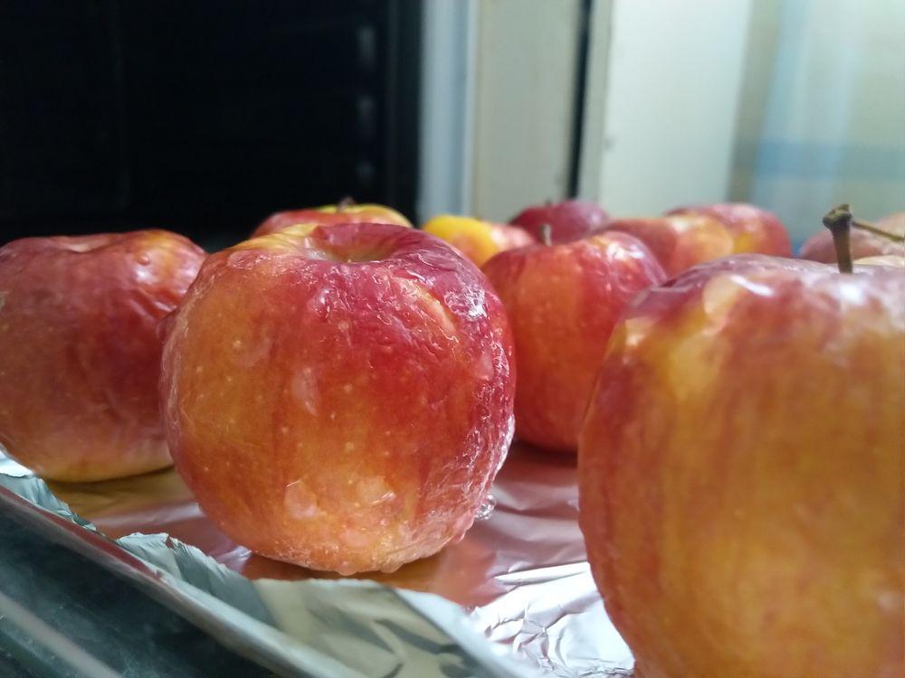 замороженные яблоки в духовке, простыня