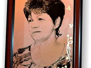 Портрет на зеркале Самой любимой. Ярмарка Мастеров - ручная работа, handmade.