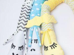 Бортики валики для детской кроватки. Ярмарка Мастеров - ручная работа, handmade.