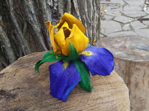 Новинка в магазине: Брошь — цветок Ирис  «Bollywood». Ярмарка Мастеров - ручная работа, handmade.