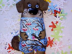 Шьём ёлочную игрушку — собачку. Ярмарка Мастеров - ручная работа, handmade.