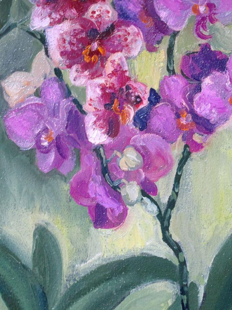 картина с цветами, авторская картина, купить в москве, картина в подарок