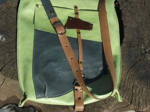 Кожаная сумка: Зеленая, нежная. Ярмарка Мастеров - ручная работа, handmade.