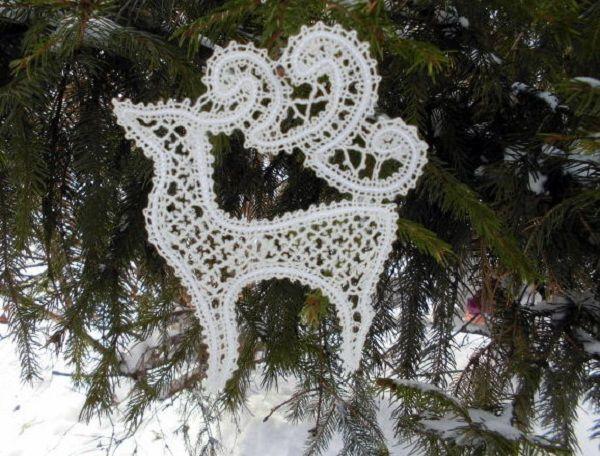 рождественский подарок, новогодний олень, madamkrugevo