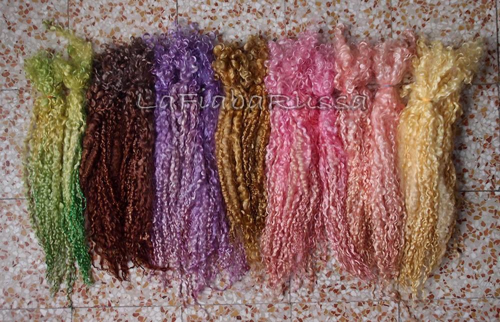 флис для валяния, волосы для кукол, прядение, кудрявые волосы, локоны