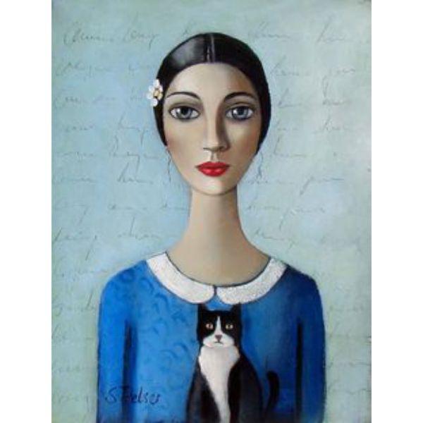 painting, кошки картина