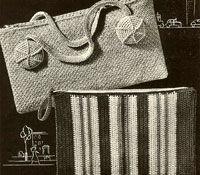 Старинные вязаные сумки