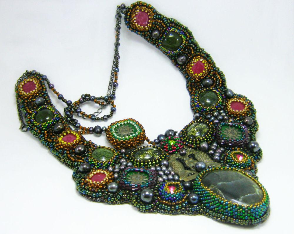 лабрадорит, украшение с камнями