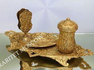 РАРИТЕТИЩЕ Поднос спичечница пепельница бронза 1. Ярмарка Мастеров - ручная работа, handmade.