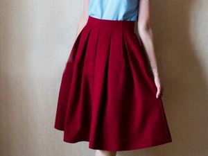 Sewing a Romantic Skirt with Sweet Bow Pleats. Livemaster - handmade